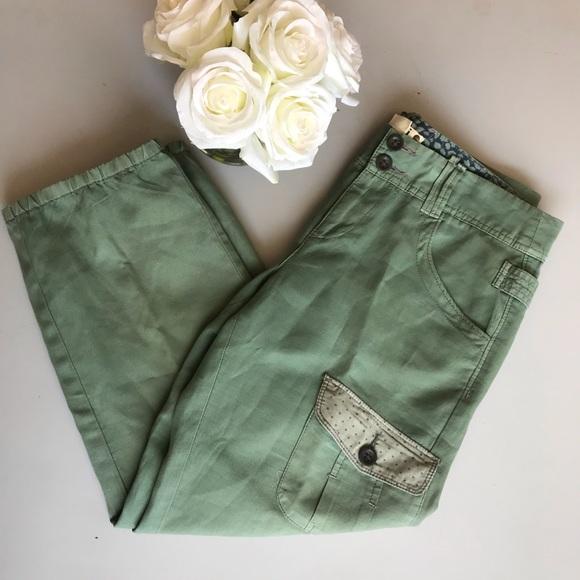 Hei Hei Pants - Hei Hei Size 8 Green Cargo Capri Pants